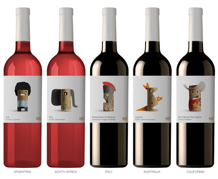 wines of the world packaging