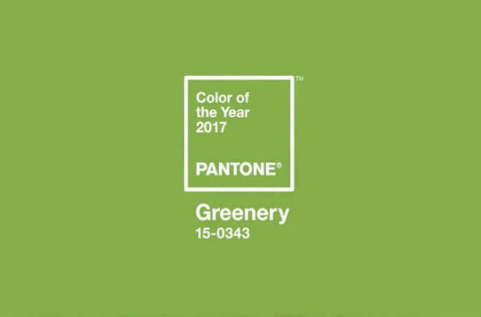 Pantone 2017: il mondo diventa Greenery
