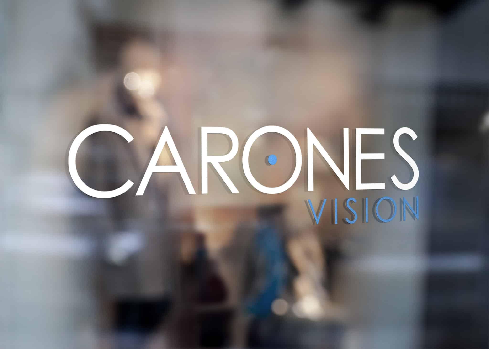 logo Carones vetrofania