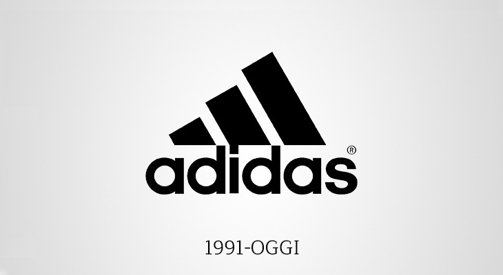 Storia Logo Adidas 1991 seconda versione
