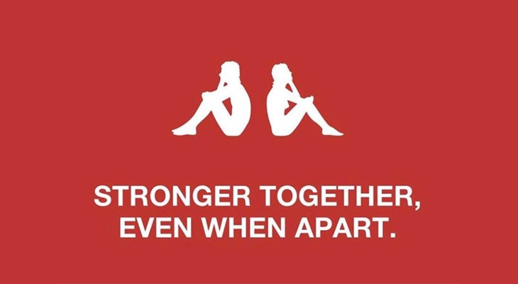 Logo Kappa stay apart - logotipi del distanziamento sociale