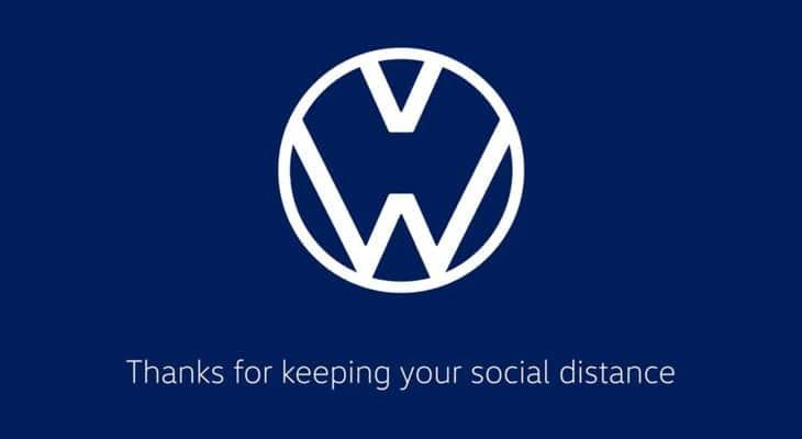 Logo Volkswagen distanziato - Logotipi distanziamento sociale