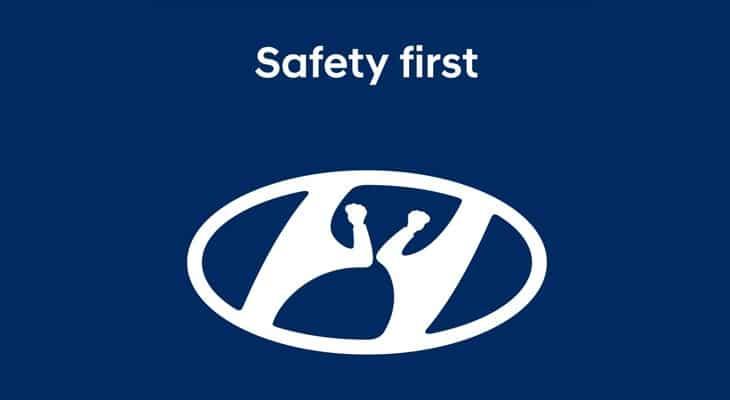 Logo Hyundai saluto con il gomito