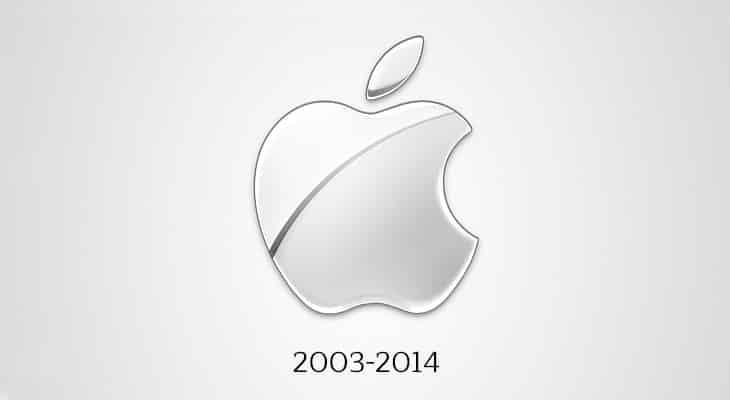 Il logo Apple negli anni 2000