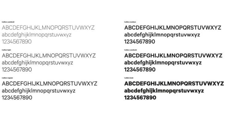 Calibre il font di Bologna