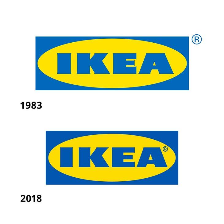 Il logo Ikea oggi