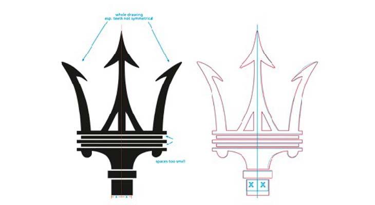 Ridisegno Logo Maserati