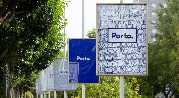 Poster city branding Porto