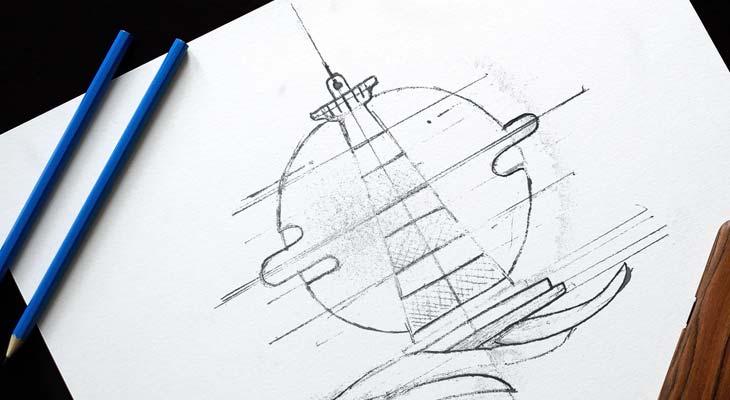 sketch per logotipo