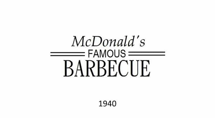 Il primo logo McDonald's