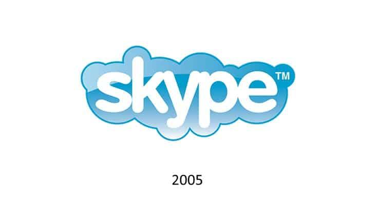 Logotipo Skype nel 2005