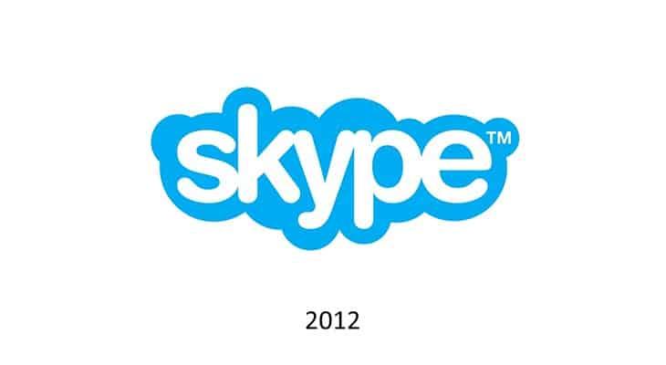 Logotipo Skype nel 2012