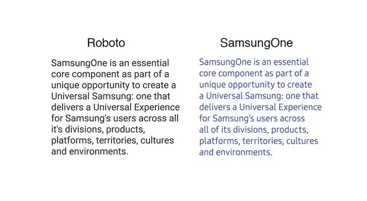Font SamsungOne