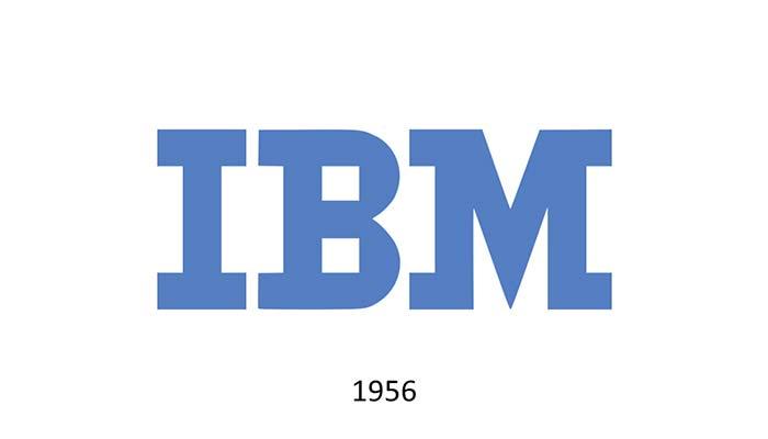 Logo IBM 1956