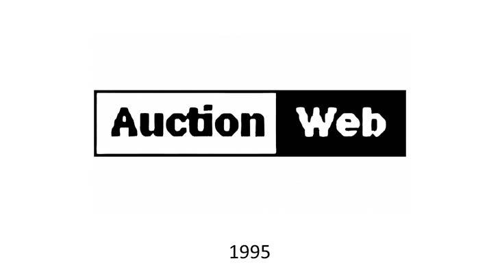 Il primo logo AuctionWeb