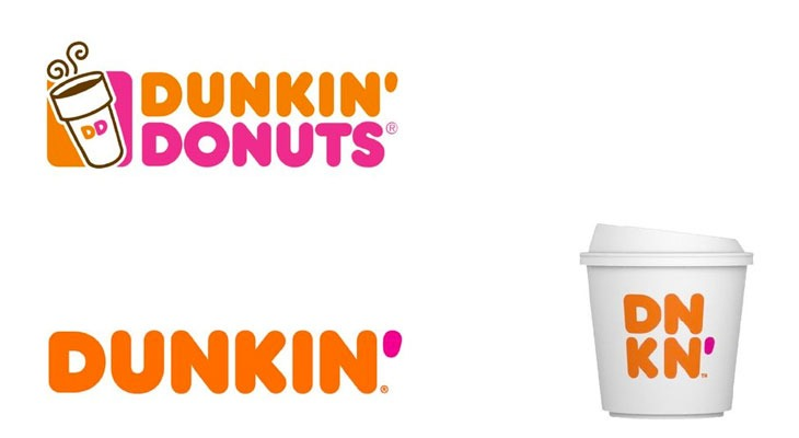 Dunkin donuts rebrand
