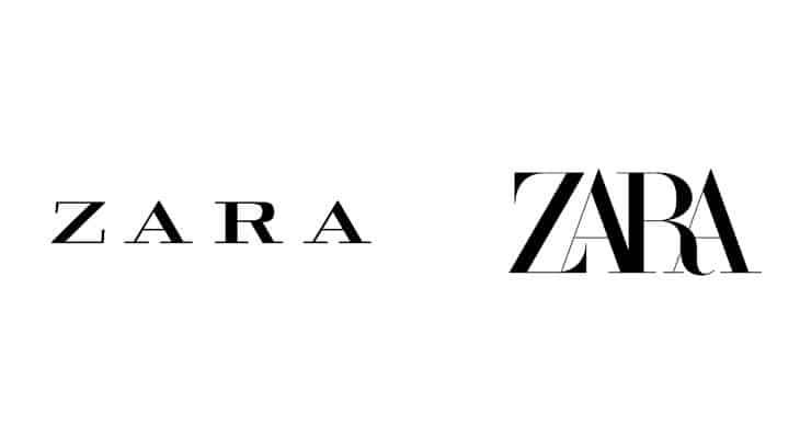 rebranding logo zara